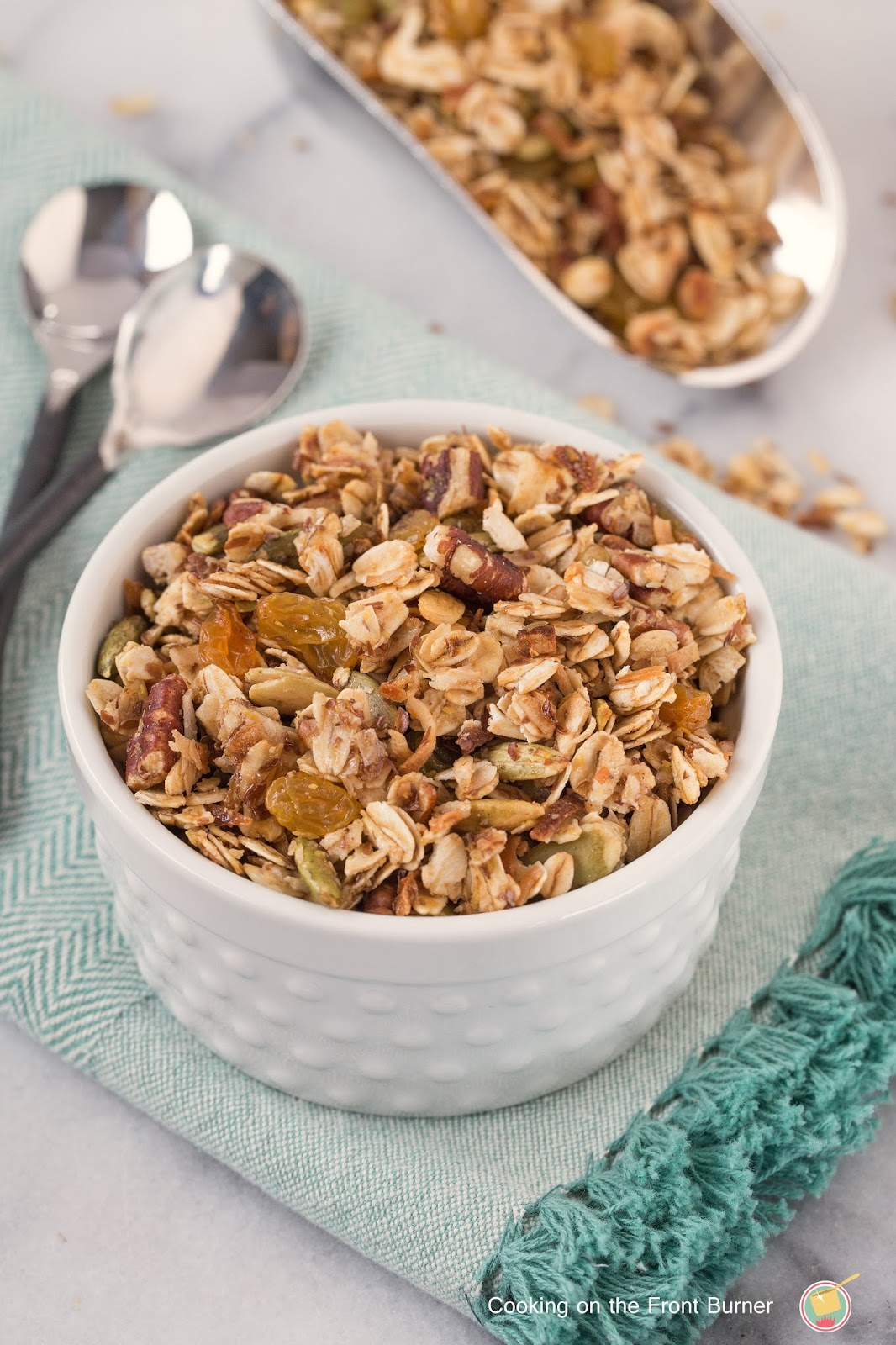 Homemade Honey Granola   Cooking on the Front Burner
