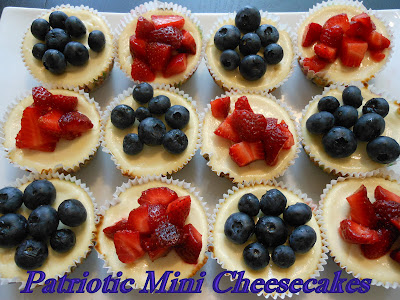 Patriotic Mini Cheesecakes