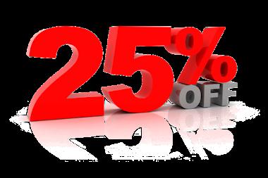 25 Percent Off Coupon !!!