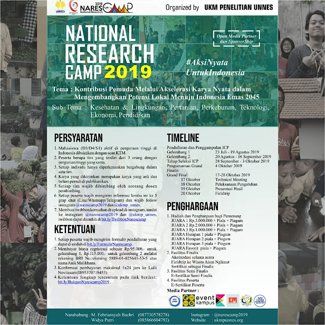 Kompetisi National Research Camp – Narescamp 2019