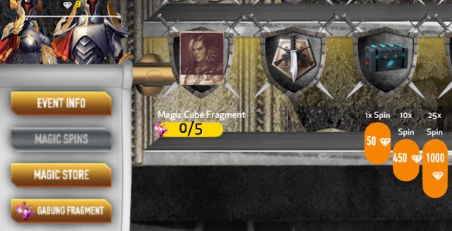Free Fire tidak langsung mencantumkan bundle dalam Shop Redem dalam In game tapi melalui  Event Magic Cube Terbaru Free Fire Jadilah Raja di Magic Shop