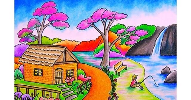 Gambar Pemandangan Anak Sd Kelas 5 - Gambar Kehidupan