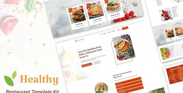 Best Healthy Restaurant Elementor Template Kit