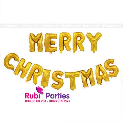 bong chu merry christmas mau vang