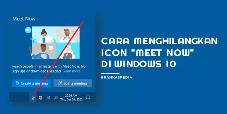 Cara Menghilangkan Icon Meet Now Windows 10