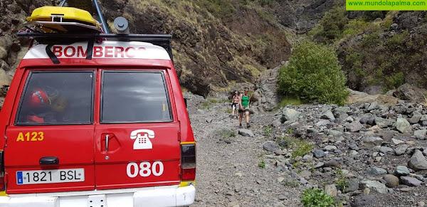 Rescatada ayer una senderista en el barranco de Las Angustias