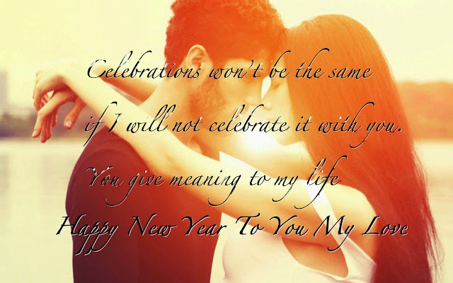 Happy New Year wishes to husband 2018