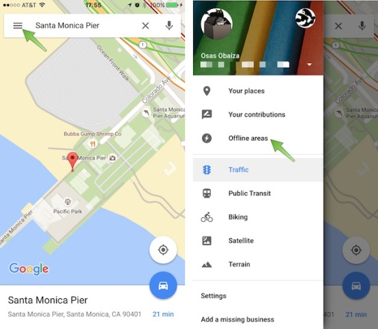 How To Save Offline Maps With Google Maps On iOS 9 2 1