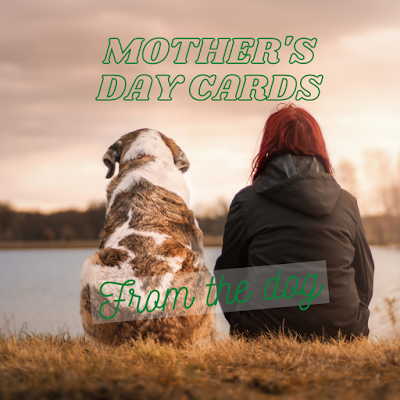 Mothers Day Cards from the dog - image of a dog and his dog mum/dog mom