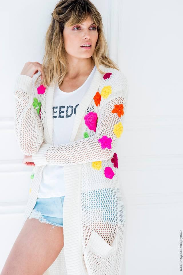 Sacos de moda tejidos para mujer verano 2018.