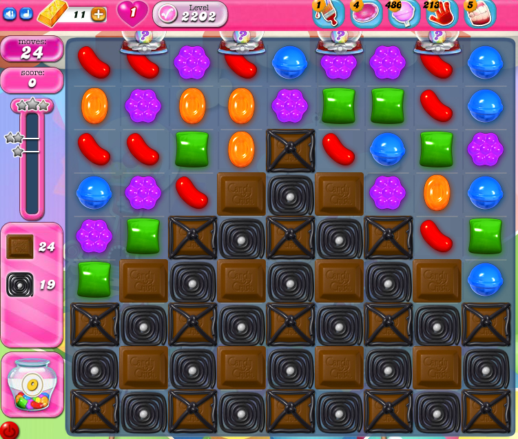 Candy Crush Saga level 2202