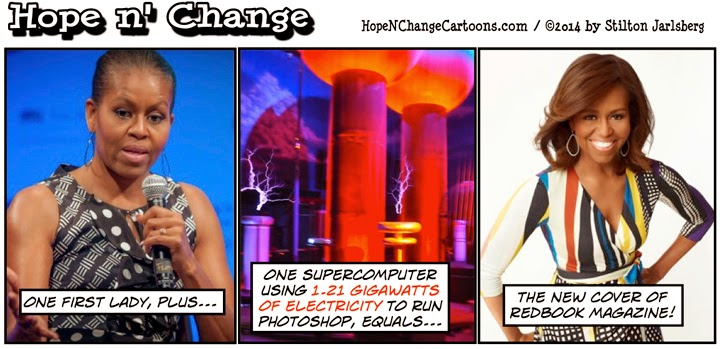 obama, obama jokes, michelle, cartoon, humor, policital, conservative, redbook, photoshop, hope n' change, hope and change, stilton jarlsberg