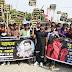यू पी के झांसी में पुष्पेंद्र हत्याकांड के खिलाफ मुरलीगंज के युवाओं ने निकाला आक्रोश मार्च