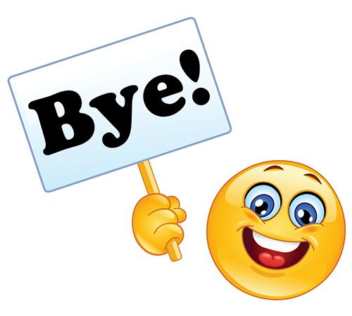 Smiley Saying Bye