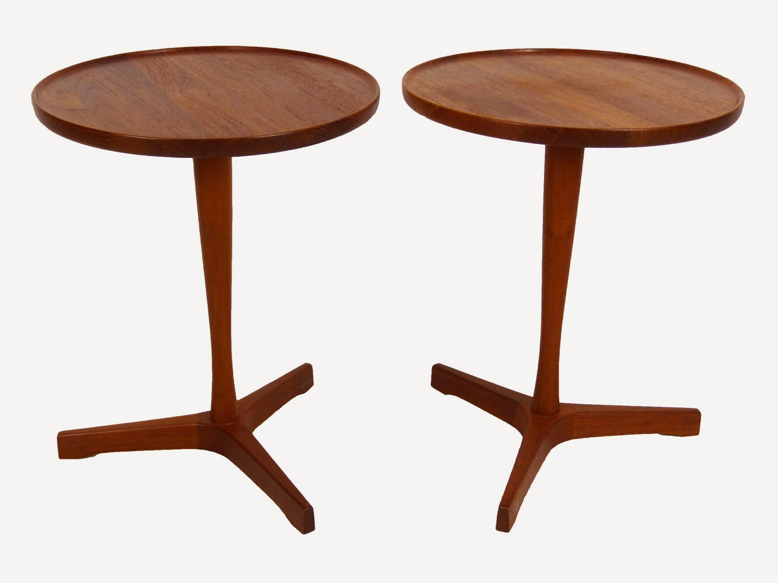 Hans C Anderson Danish Modern Teak Side Tables