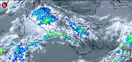 Τοπικές βροχές αύριο στον ηπειρωτικό κορμό της χώρας και στο βόρειο Ιόνιο - Μικρή πτώση της θερμοκρασίας