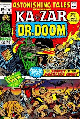 Astonishing Tales #3, Ka-Zar and Dr Doom