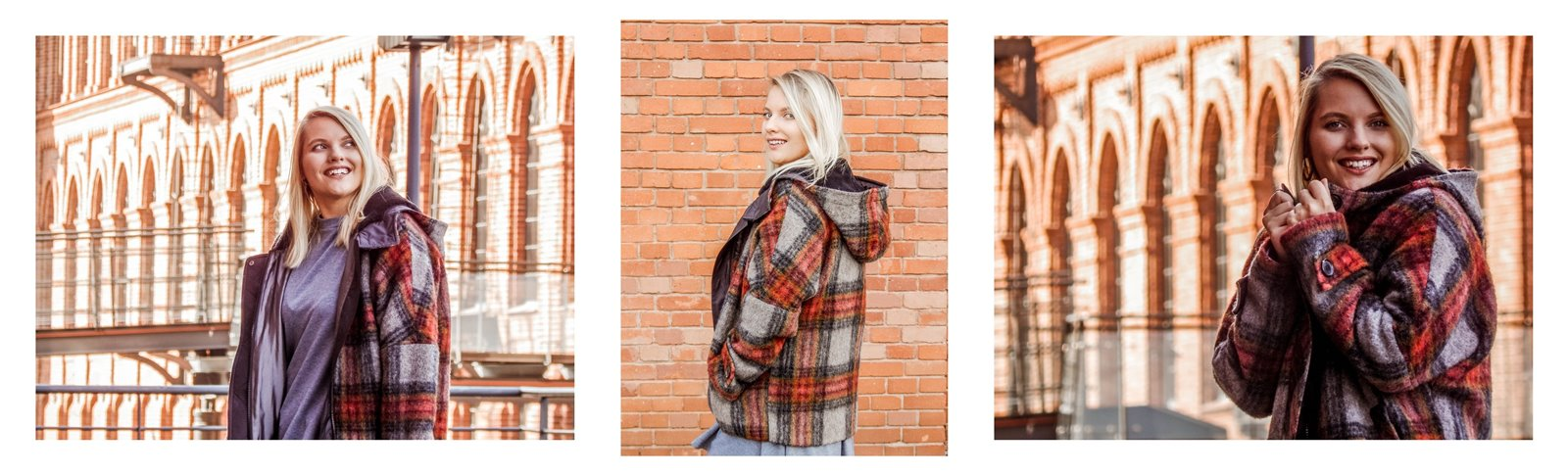 8a płaszcz - ubranie, moda polska, hot moda, moda damska jesień 2018, moda for you, net moda, blog, blogerki fashion łódź anataka kurtka w kratkę ciepła kurtka stylizacje w co się ubrać eleganckie kurtki blondynka