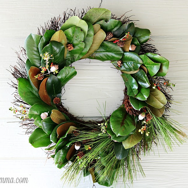 Fresh Handmade Holiday Magnolia Wreath