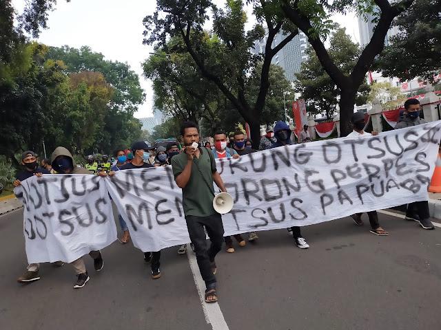 Aliansi Mahasiswa Papua Barat Meminta Pemerintah Tinjau Ulang Otsus