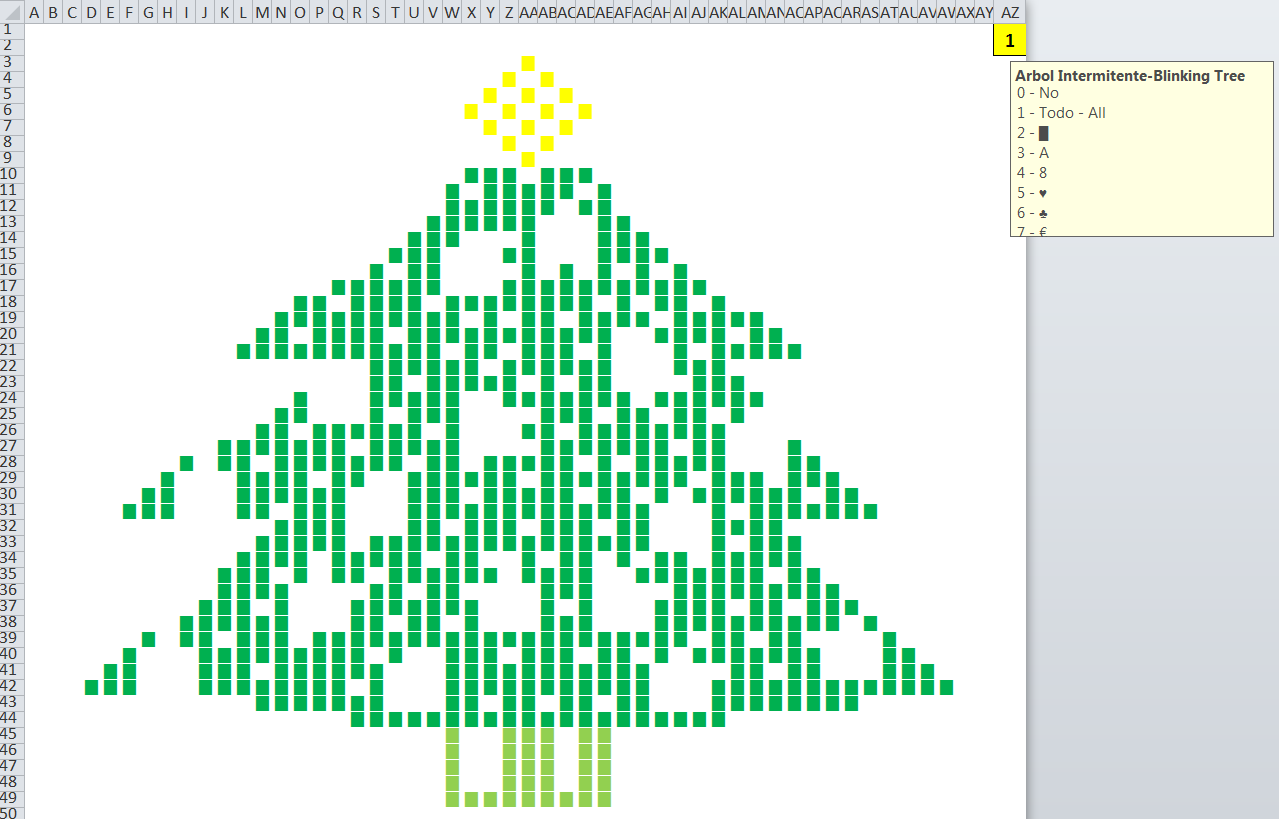 A Blinking Excel Christmas Tree