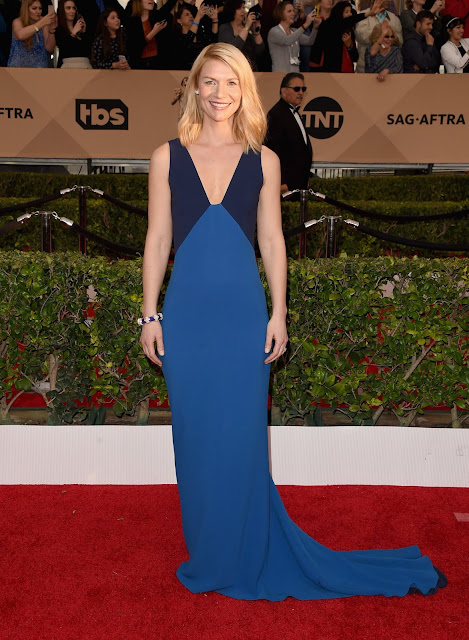 WHO WORE WHAT?......2016 SAG Awards Red Carpet: Claire Danes in Stella McCartney