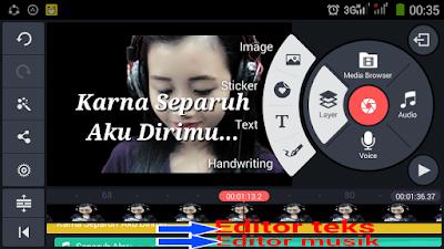 Cara Membuat Video Lirik Lagu Dengan Kinemaster Smartphone