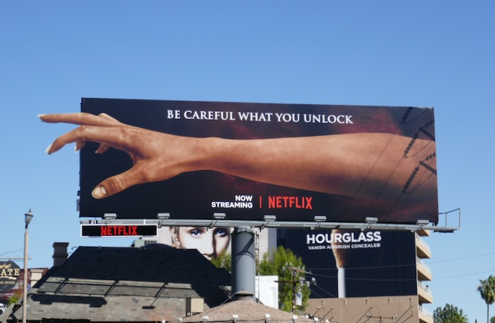 Locke Key outstretched hand billboard