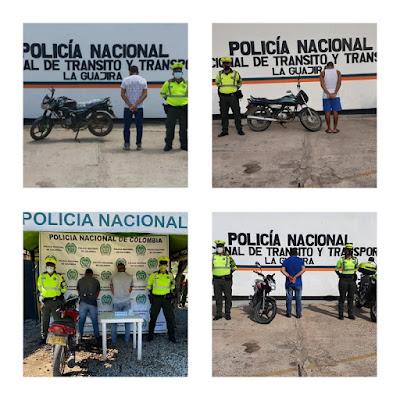 hoyennoticia.com, Cinco motociclistas capturados en carreteras guajiras