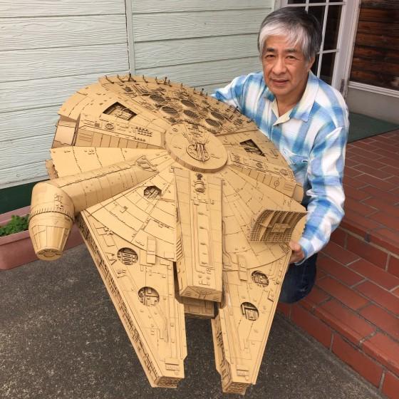 Tác phẩm mới nhất của ông là con tàu Millenium Falcon trong bộ phim Star War, thực hiện mất khoảng 2 tuần