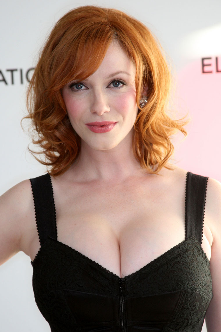 With redheads with large breasts