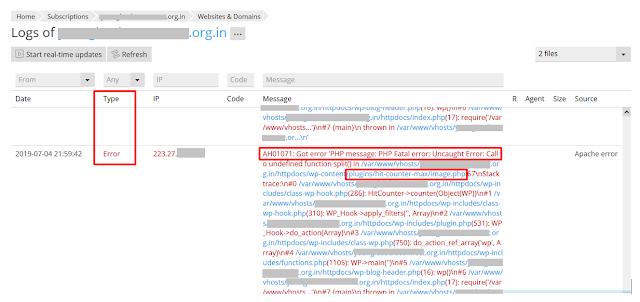 website-error-logs