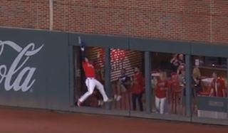 Joc Pederson incredible catch Braves vs Giants, 8/27/2021