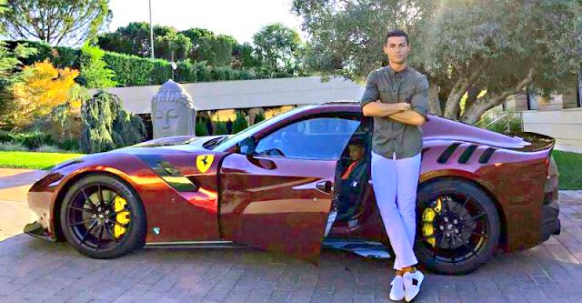 Cristiano Ronaldo New Car Price  Cristiano Ronaldo's Ferrari F12 TDF