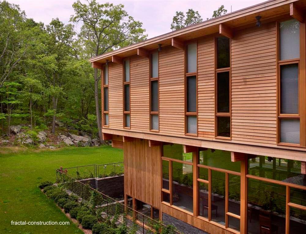 Casa de campo contemporánea de madera en Estados Unidos