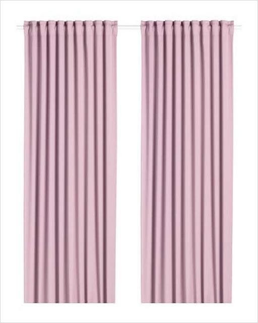ikea blackout grommet curtains pink UK, Canada
