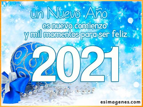 mensaje bonito para 2021