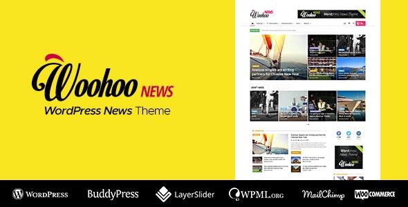WooHoo v2.4.5 Newspaper Magazine News BuddyPress AMP Theme Free Download, Nulled