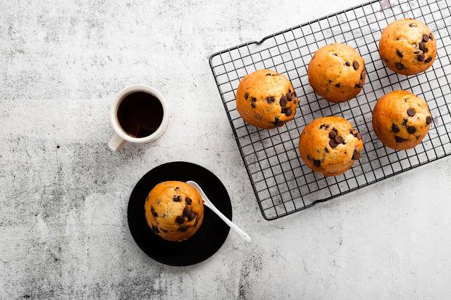Muffin con gocce di cioccolato senza burro