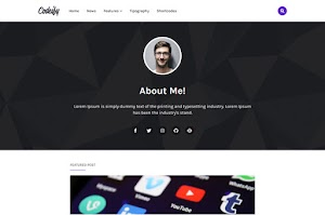 Codeify - Responsive Personal Blogger Template