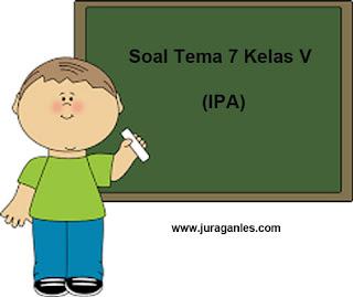 Contoh Soal Tematik Kelas 5 Tema 7 Mapel IPA dan Kunci Jawaban