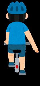 自転車の手信号のイラスト(停止)