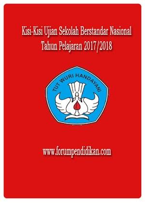 Kisi-Kisi Ujian Sekolah Berstandar Nasional Tahun Pelajaran 2017/2018