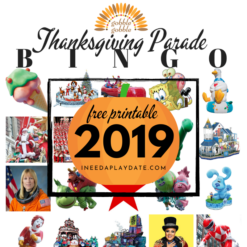 Thanksgiving Day Parade BINGO for 2019 - 15 Free Printable Cards