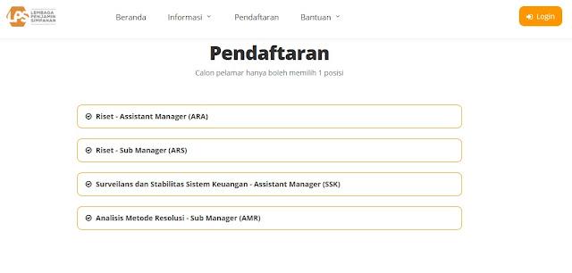 Job Vacancy Lembaga Penjaminan Simpanan (LPS)