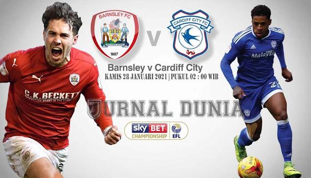 Prediksi Barnsley vs Cardiff City , Kamis 28 Januari 2021 Pukul 02.00 WIB