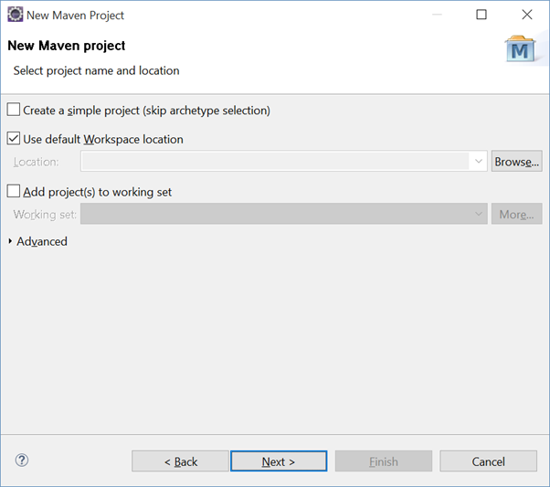 maven project in eclipse