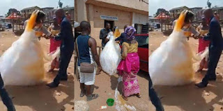 Woman storms wedding, pours palm oil on new bride of husband