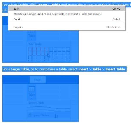 mengcopy tulisan atau teks menggunakan ctrl
