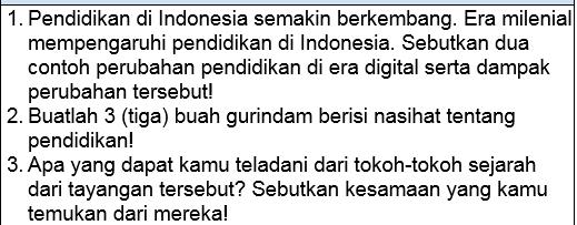 Soal Bahasa Indonesia SMP-MTs Kelas 7-8-9 Tentang Tokoh-Tokoh Indonesia